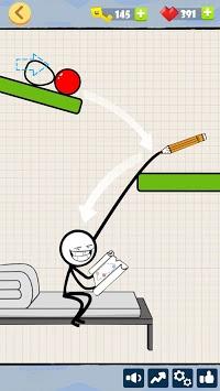 Bad Luck Stickman- Addictive draw line casual game APK screenshot 1
