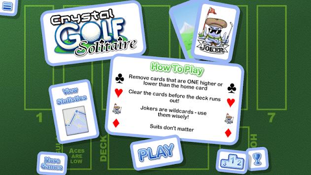 Crystal Golf Solitaire APK screenshot 1