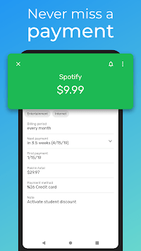 Subscriptions - Manage your regular expenses APK screenshot 1
