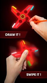 Draw Finger Spinner APK screenshot 1