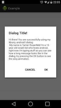 L/Lollipop dialog demo APK screenshot 1