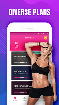 Female Workout at home - lose weight in 28 days APK screenshot 1