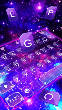 Fantasy Galaxy Glitter Theme Keyboard APK screenshot 1