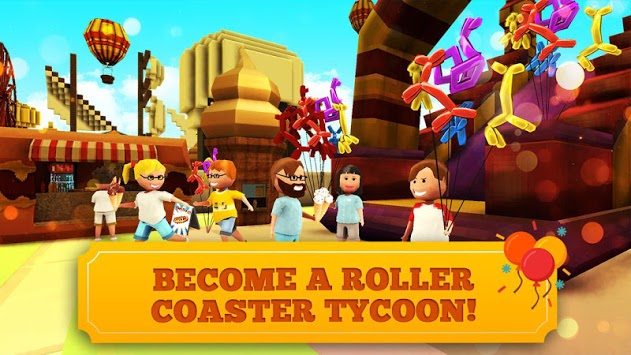 Roller Coaster Craft: Blocky Building & RCT Games APK screenshot 1