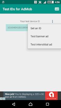 Test IDs for AdMob APK screenshot 1