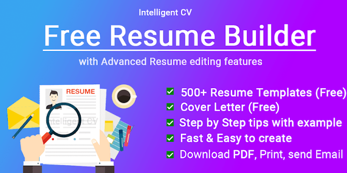 Resume Builder CV maker App Free CV templates 2019 APK screenshot 1