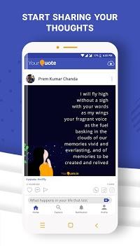 YourQuote — Write Quotes, Poems, Stories & Shayari APK screenshot 1