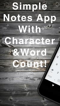 Word Count Notes APK screenshot 1