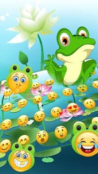 Cute Frog Big Eyes keyboard Theme APK screenshot 1
