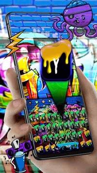 Graffiti Skull DJ Music Keyboard Theme APK screenshot 1