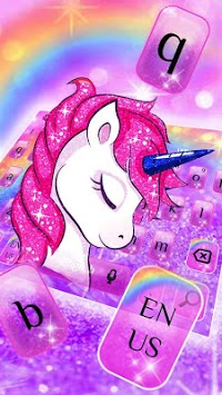 Pink Unicorn keyboard Theme APK screenshot 1