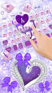 Glitter Diamond Heart Keyboard APK screenshot 1