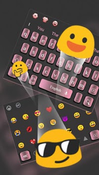 Simple Textured Pink Keyboard APK screenshot 1