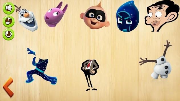 Kids Wooden Puzzle Wrongheads - Disney Junior APK screenshot 1