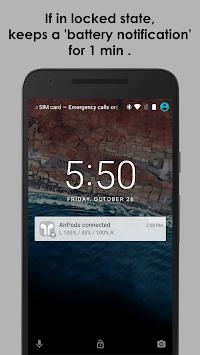 AirBuds Popup Free - airpod battery app (1st gen) APK screenshot 1