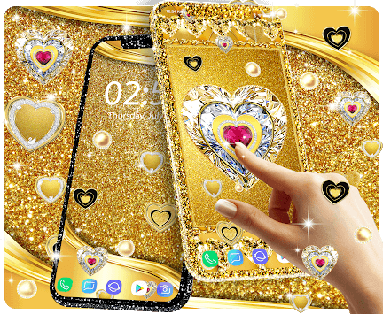 Gold live wallpaper 2019 APK screenshot 1