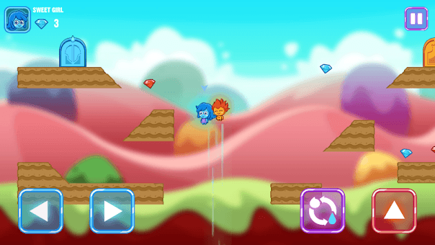 Fire and Water Maze - Crazy Boy and Lovely Girl APK screenshot 1