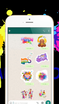 Holi Stickers for WhatsApp ( WAStickerApps ) APK screenshot 1