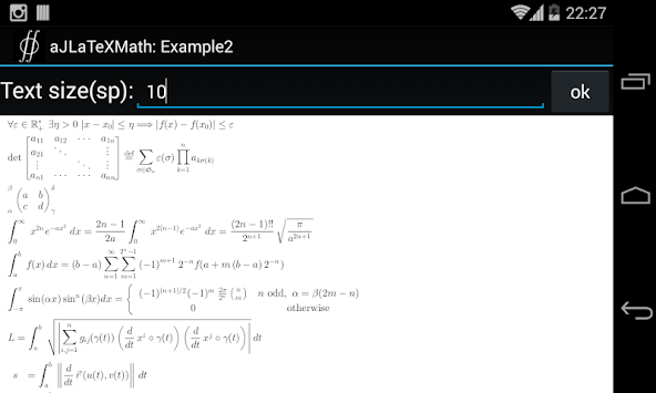 aJLaTeXMath APK screenshot 1