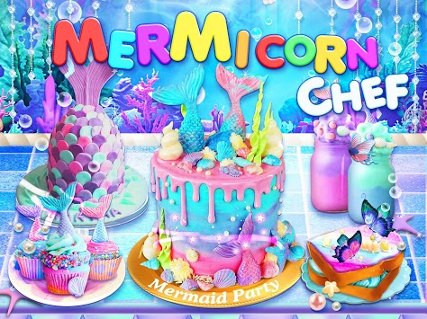 Unicorn Chef: Mermaid Cooking Games for Girls APK screenshot 1