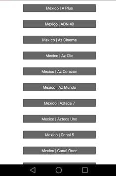 Mexico TV Player - Television en Vivo APK screenshot 1