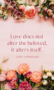 Romantic Love Quotes & Sayings - Wallpaper gallery APK screenshot 1