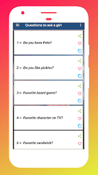 Questions to ask a girl APK screenshot 1