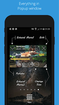 Lua Player (HD POP-UP Player) APK screenshot 1
