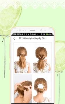 2019 Hairstyles Step by Step APK screenshot 1