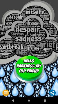 Hello Darkness My Old Friend Button APK screenshot 1