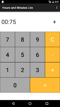 Hours Minutes Time Calculator APK screenshot 1