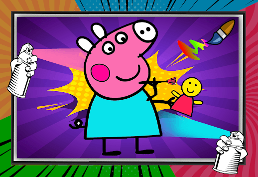 Peppo Pig Coloring Book APK screenshot 1