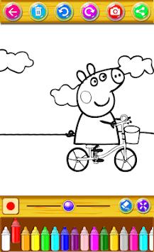 coloring book pepa APK screenshot 1