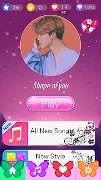 Butterfly Pink Piano Tiles - Magic Girl Kpop Music APK screenshot 1