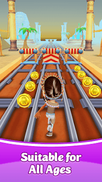 Pink Princess Run - Subway Escape Girl Run Temple APK screenshot 1