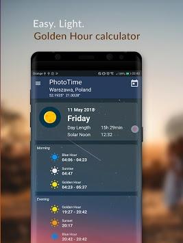 PhotoTime: Golden Hour - Blue Hour time Calculator APK screenshot 1