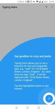 Typing Hero ⚡ Free Text Expander APK screenshot 1