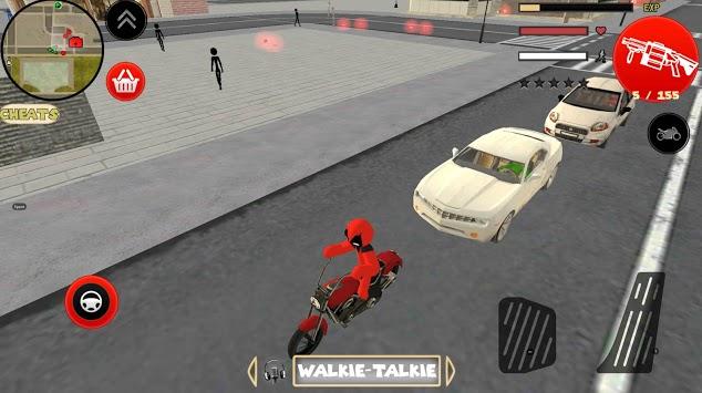 Stickman Deadpool Rope Hero APK screenshot 1