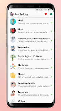 The Best Psychology Facts For Life Hacks APK screenshot 1