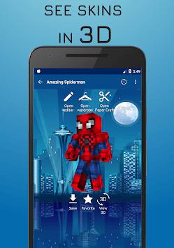 Superhero skins for Minecraft 3D APK screenshot 1