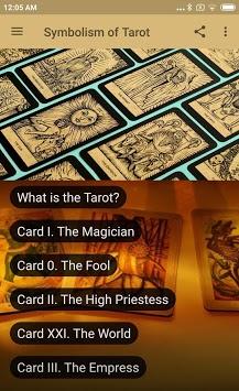 TAROT CARD MEANINGS - SYMBOLISM OF THE TAROT APK screenshot 1