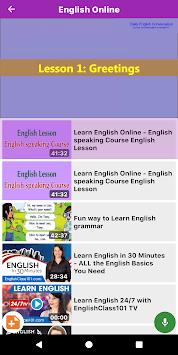 Learn English through Videos - Listen & Record APK screenshot 1