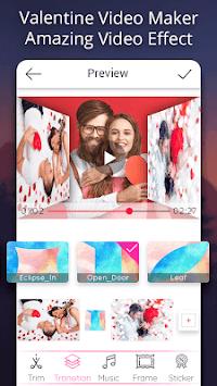 Valentine video maker with music - Photo Slideshow APK screenshot 1