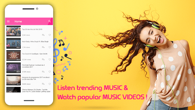 Tny Free Music Mp3 Streamer - Trendy Music Videos APK screenshot 1