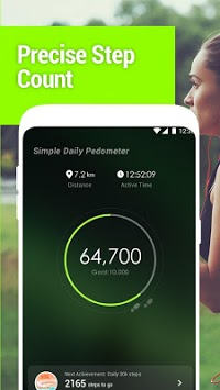Simple Daily Pedometer APK screenshot 1