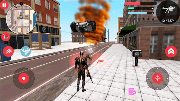 Immortal Flame Tornado Hero Vegas Crime Vice Sim 2 APK screenshot 1