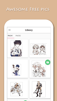 Anime II - Paint by Number Girls n Boys APK screenshot 1