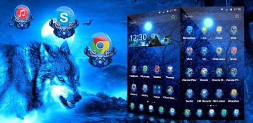 3D Ice Wolf Theme pc screenshot