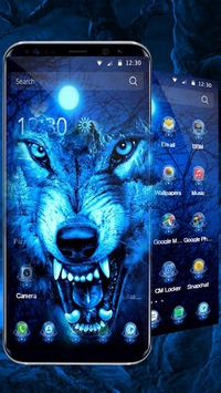 3D Ice Wolf Theme pc screenshot 1