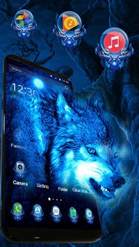 3D Ice Wolf Theme APK screenshot 1